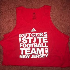 Adidas Rutgers Football Tank